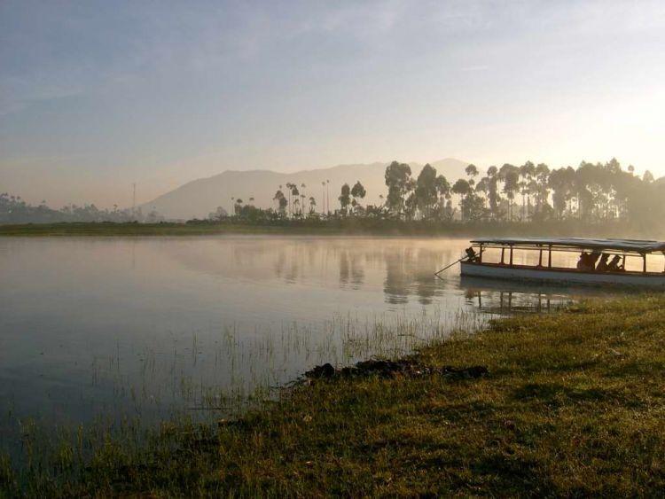 Panorama alam indah di Situ Cileunyi