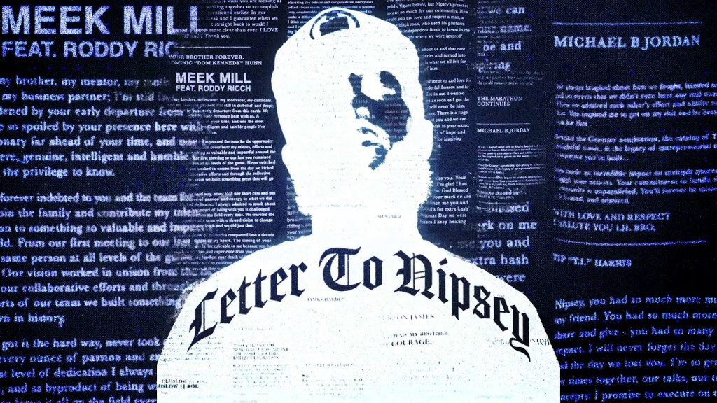 Meek Mill Letter to Nipsey