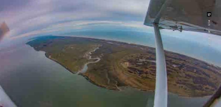 Luchtfoto Ameland door Jeroen Komen