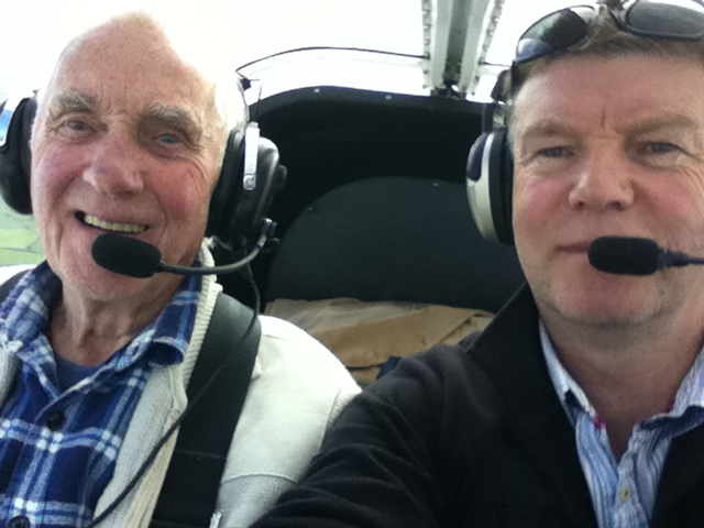 Me and dad flying back from Sleap