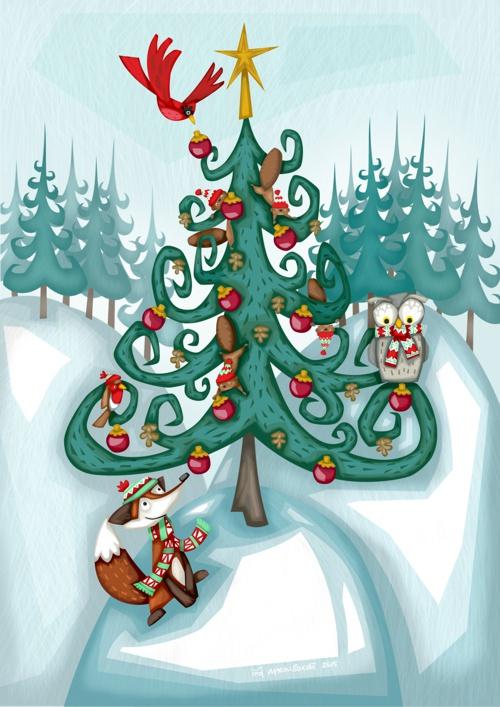 Martin-Beckett-Christmas-in-the-woods