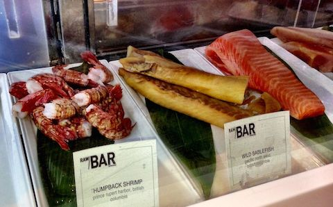 RawBar uses all Ocean Wise seafood such as Humpback shrimp and wild sable fish