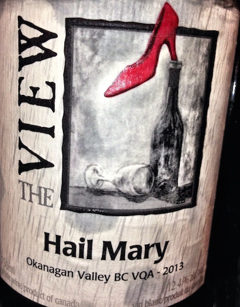 The View's Hail Mary white blend. More than just a wing and a prayer