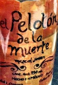 Mezcal Peloton label