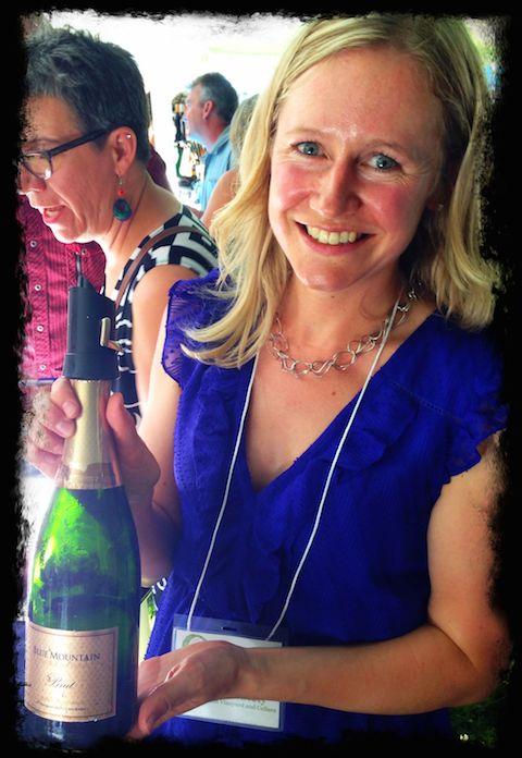 Okanagan Falls tasting: Christie Mavety pours Blue Mountain's flagship Brut
