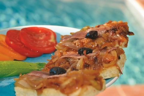 Provençal onion tart or Pissaladière!