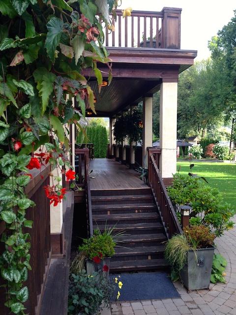 Naramata Inn verandah