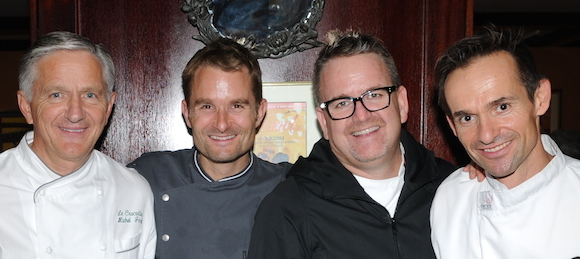 Le Crocodile protégés with Thomas Haas but missing David Hawksworth (courtesy of Le Crocodile)