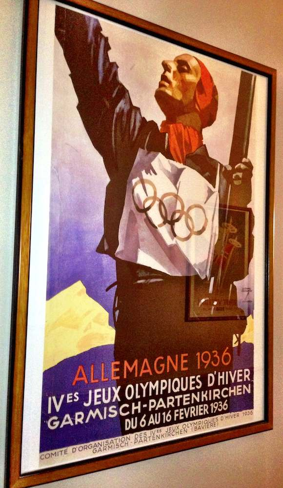 Winter Olympic poster 1936