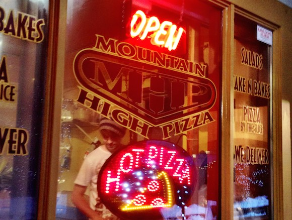 Mountain High Pizza —just a few steps from the foot of the chair