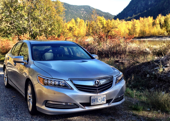 Acura's full sized, luxurious but surprisingly nimble RLX Hybrid makes short work of mountain passes