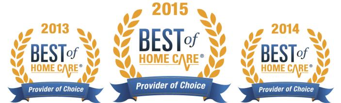 Provider of Choice logos 2013-2015