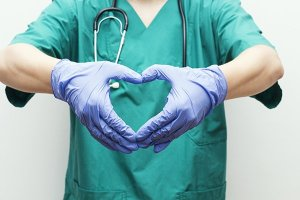 Doctor Making Heart Shape With Hands