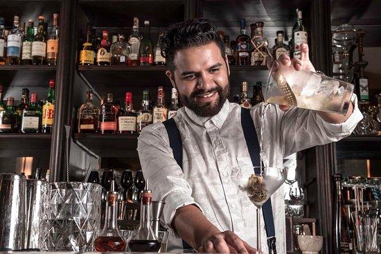 Felon working as a bartender