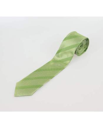 Apple Green Stripe Tie Set - Accessories