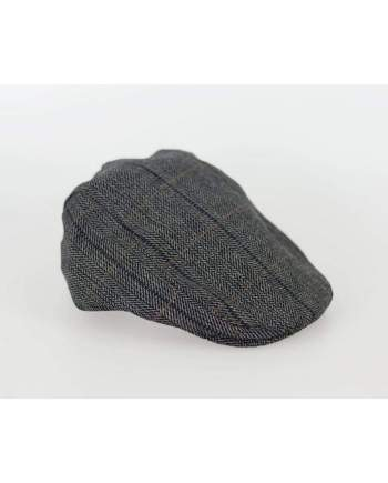 Cavani Albert Grey Check Flat Cap - S/M - Accessories