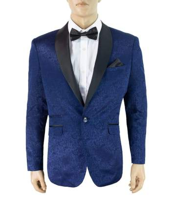 Cavani Bella Navy Slim Fit Tweed Style Blazer - 34 - Suit & Tailoring