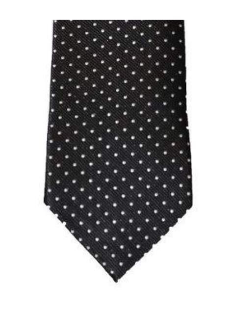 Cavani Black White Polka Dot Tie Set - Accessories