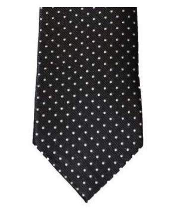 Cavani Black White Polka Dot Tie Set - Accessories