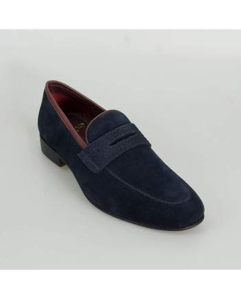 Cavani Branco Mens Navy Loafers - Loafers