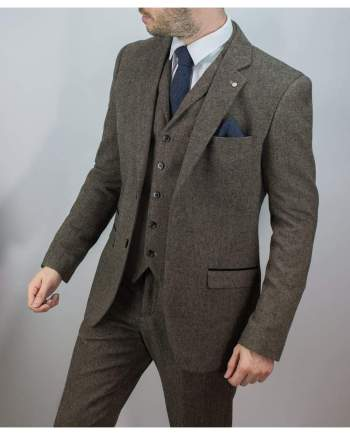 Cavani Brendan Mens Blue Check Slim Fit Suit - Suit & Tailoring