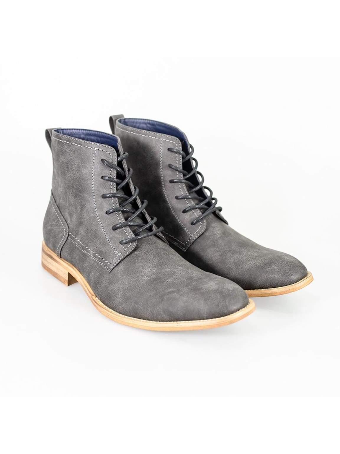 Cavani Huricane Grey Mens Leather Boots - UK7 | EU41 - Boots