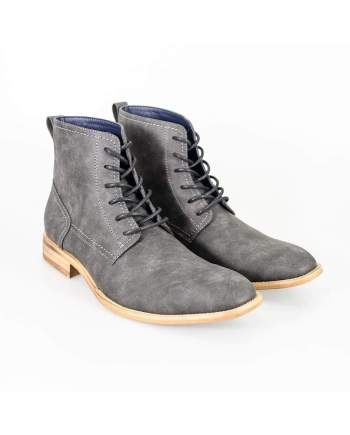 Cavani Huricane Grey Mens Leather Boots - UK7 | EU41 - Boots
