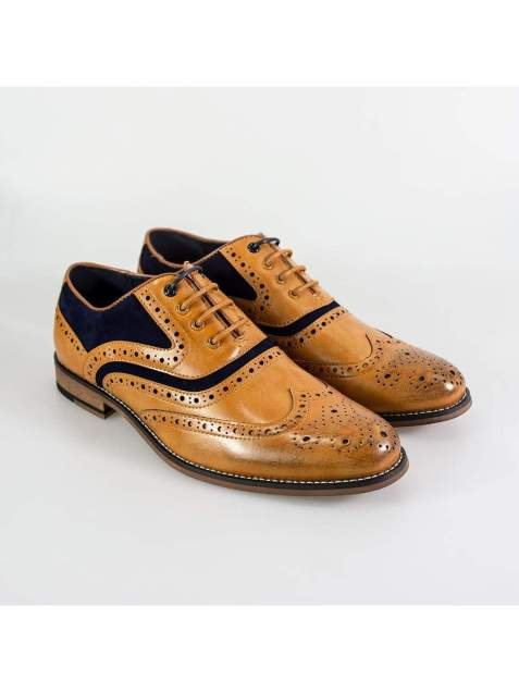 Cavani New Ethan Mens Tan/Navy Shoe - UK7 | EU41 - Shoes