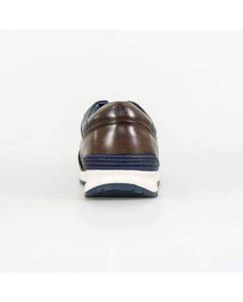 Cavani Portland Navy/Brown Trainers - Shoes
