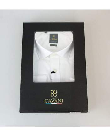 Cavani Rossi Mens White Shirt - UK 14.5 | EU 37 - Shirts