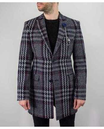 Cavani Rufus Navy Overcoat - Coats