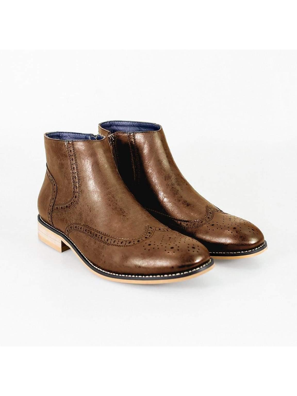 Cavani Westland Tan Mens Leather Boots - UK7   EU41 - Boots