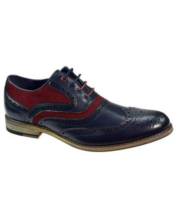 Ethan Navy Leather Shoes - Shoes