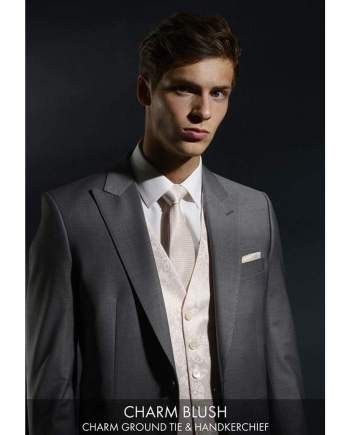 Heirloom Charm Blush Luxury 100% Wool Tweed Waistcoat - WAISTCOATS