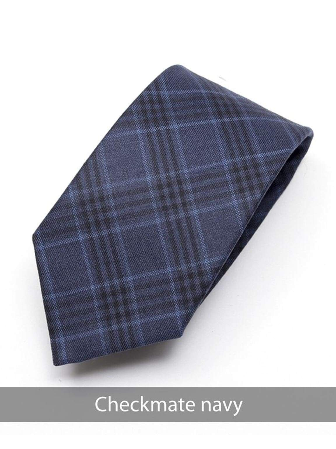 Heirloom Checkmate Mens Navy Check Tie - Accessories