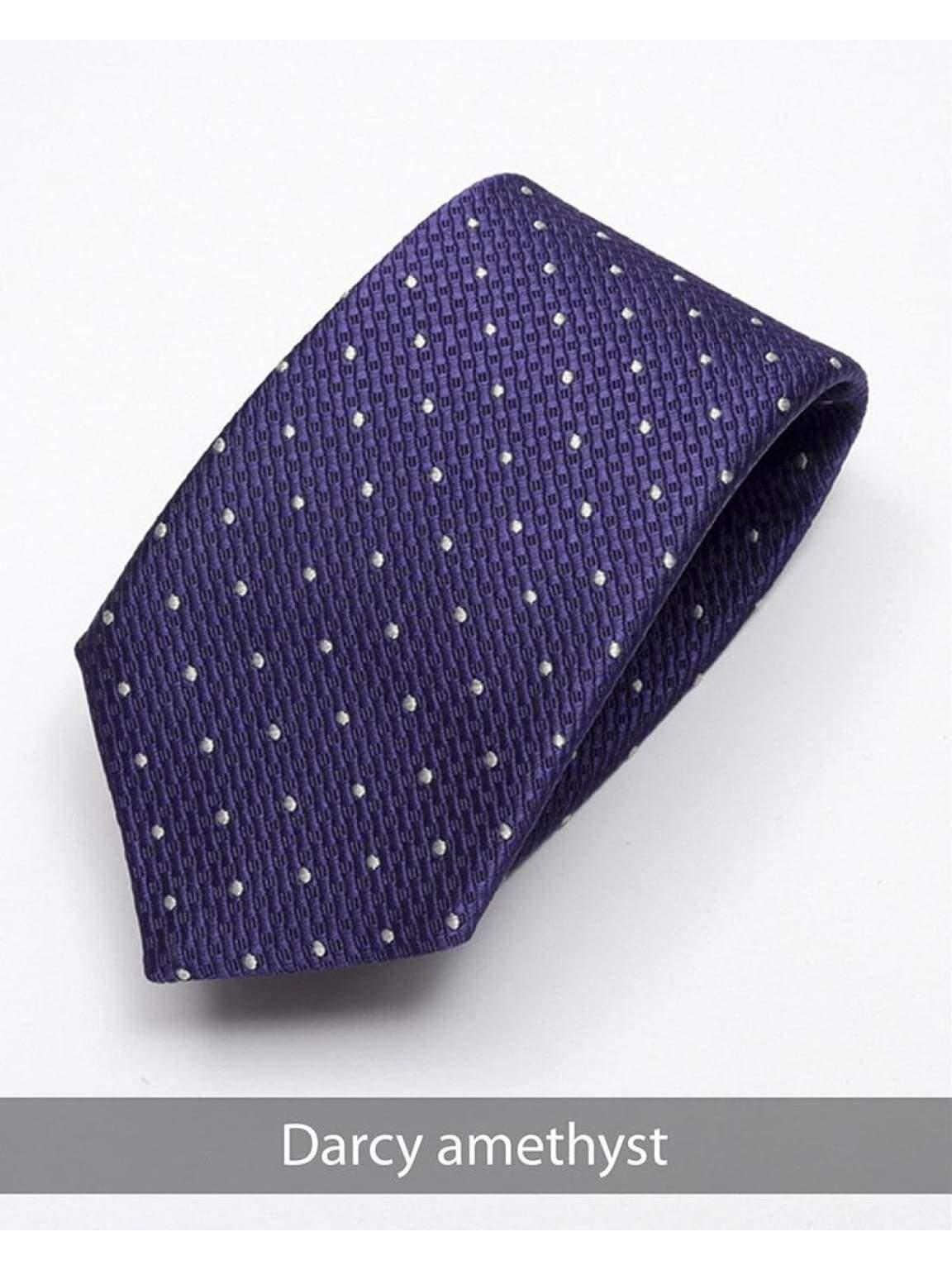 Heirloom Darcy Mens Amethyst Dotted Tie - Accessories