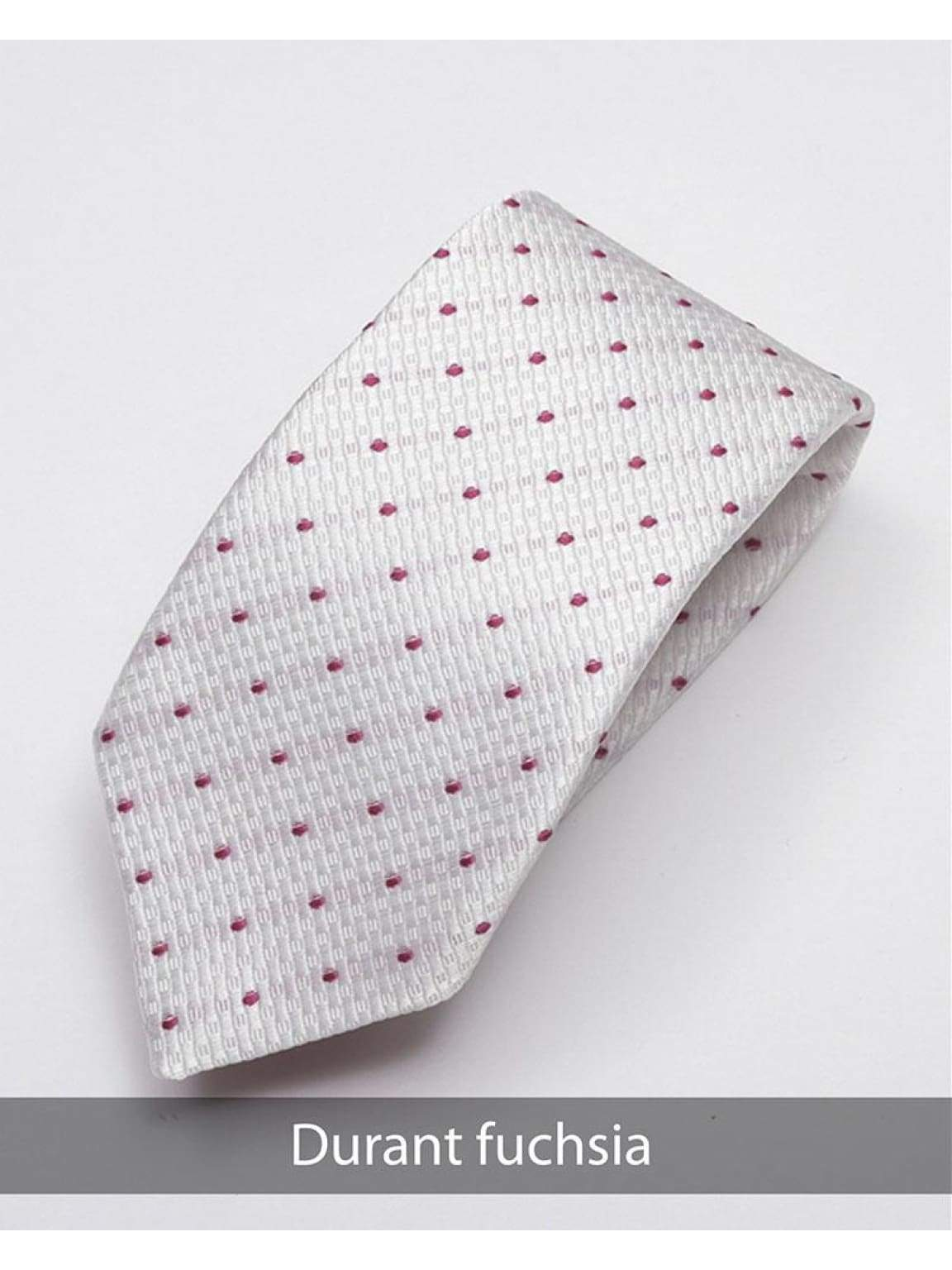 Heirloom Durant Mens Fuchsia Dotted Tie - Accessories