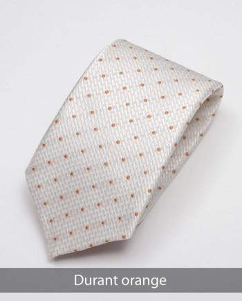 Heirloom Durant Mens Orange Dotted Tie - Accessories