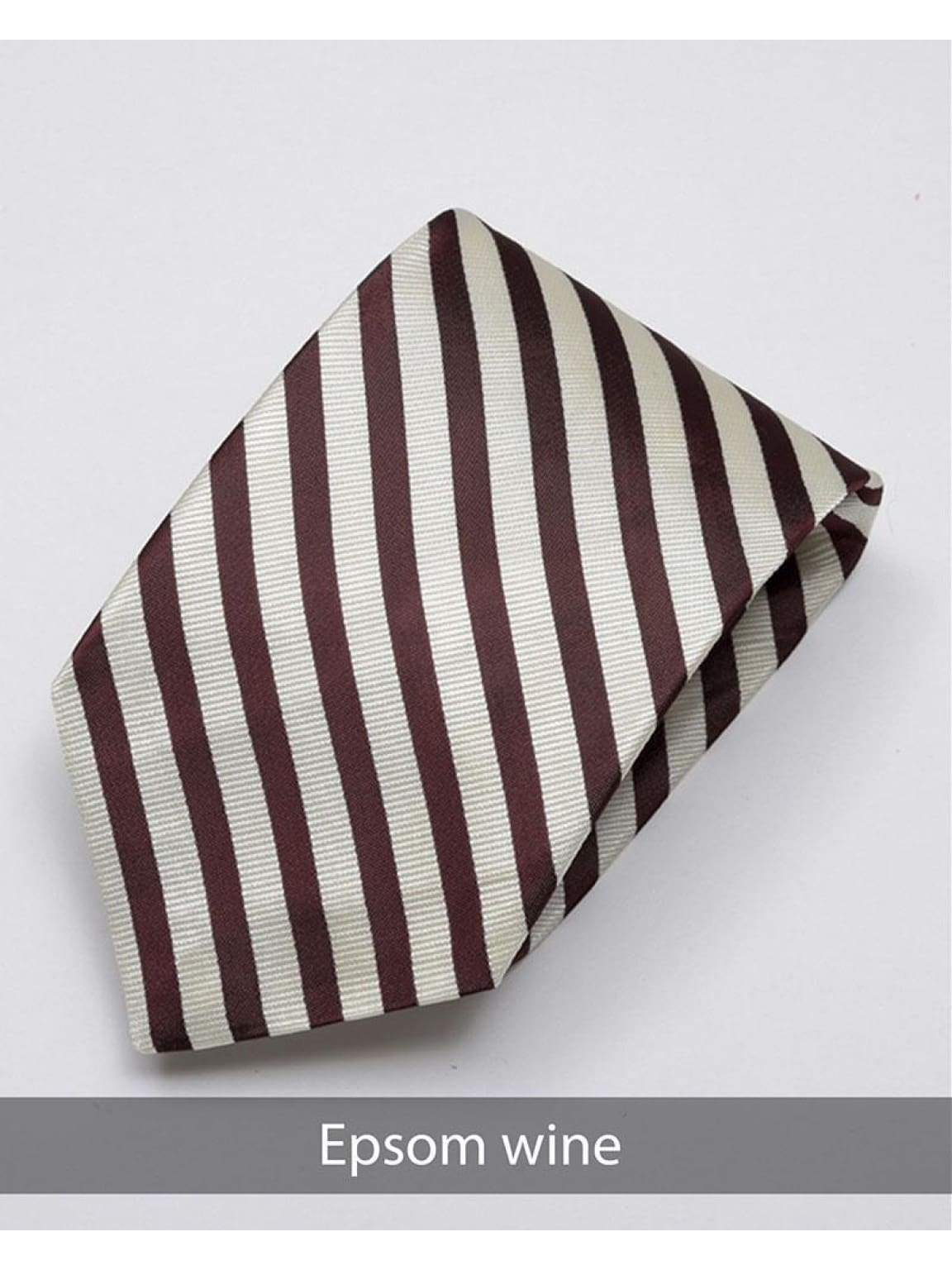 Heirloom Epsom Mens Wine Stripped Tie - Accessories