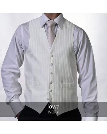 Heirloom Iowa Mens Ivory Luxury 100% Wool Tweed Waistcoat - 34R - WAISTCOATS