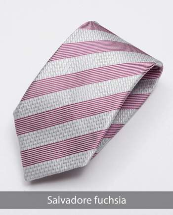 Heirloom salvadore Mens Fuchsia Stripped Tie - Accessories