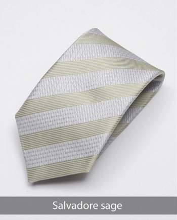 Heirloom salvadore Mens Sage Stripped Tie - Accessories