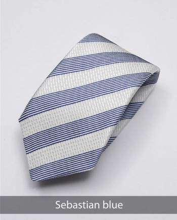 Heirloom Sebastian Mens Blue Stripped Tie - Accessories