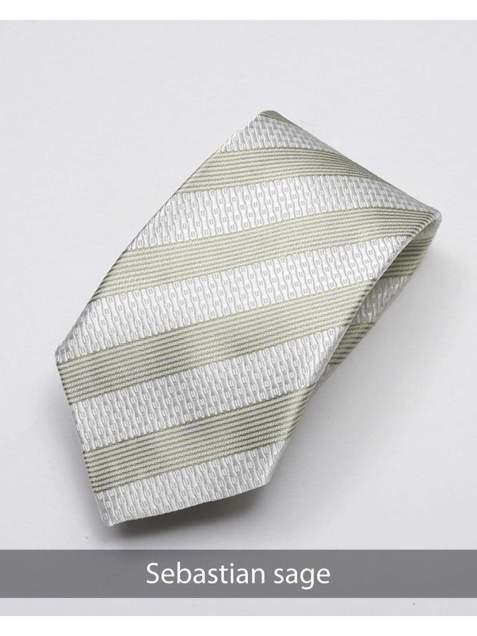 Heirloom Sebastian Mens Sage Stripped Tie - Accessories