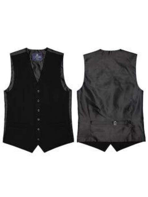 L A Smith Black Plain Country Waistcoat - Suit & Tailoring