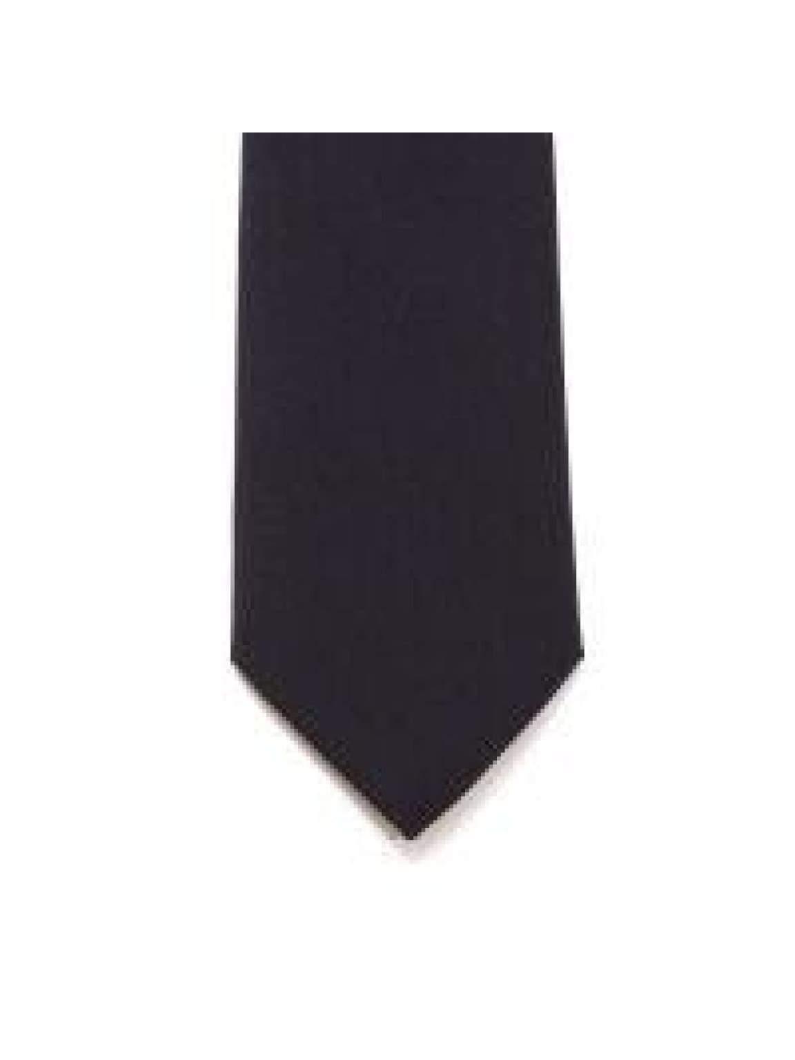 LA Smith Black Skinny Panama Tie - Accessories