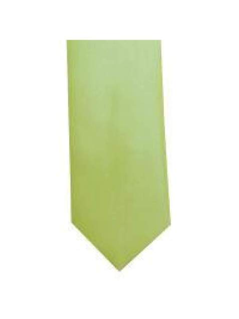 LA Smith Lime Skinny Weft Satin Tie - Accessories