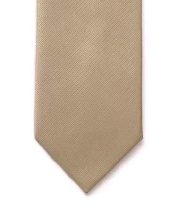 LA Smith Plain Beige Silk Tie - Accessories