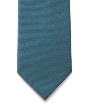 LA Smith Plain Teal Silk Tie - Accessories