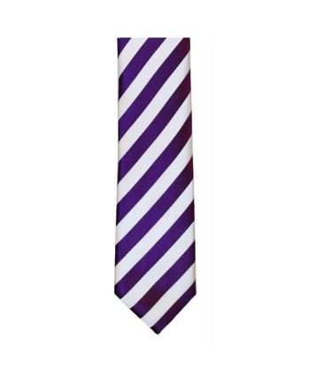 LA Smith Purple And White Skinny Stripe Tie - Accessories